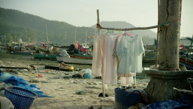 Clothes Line on Beach