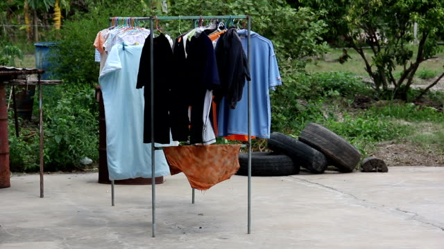 clothes line. - clothes peg stock videos & royalty-free footage