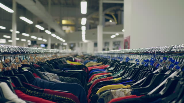 clothes rail - department store stock videos & royalty-free footage