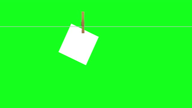 clothesline countdown 10 to 0 on green screen - number 2 stock videos & royalty-free footage