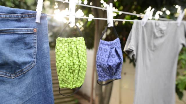 clothing drying in the wind - washing line stock videos & royalty-free footage