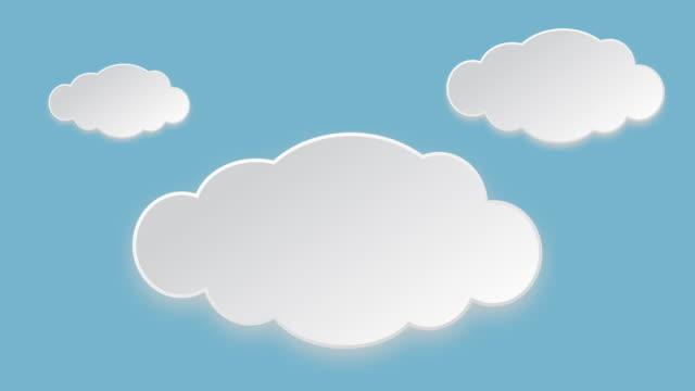 vídeos de stock, filmes e b-roll de animação de nuvem - ilustração e pintura