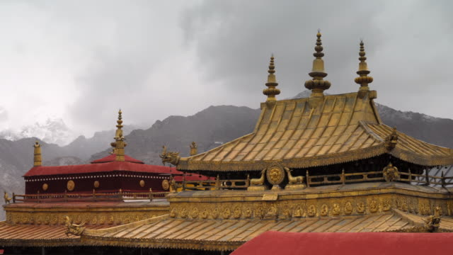 Cloud billows over Jokhang temple, Lhasa, Tibet, China