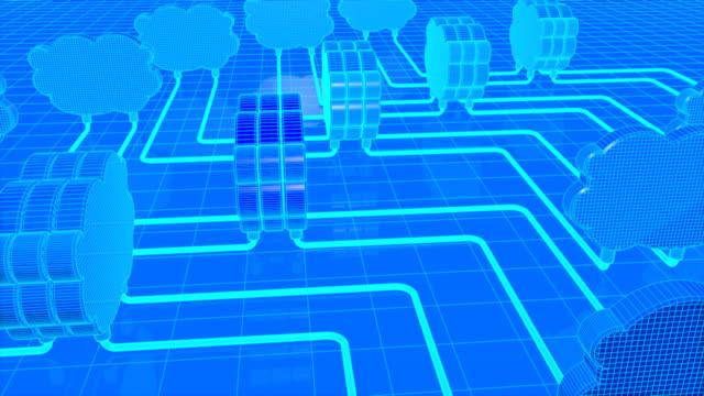 Cloud computing 3d animation