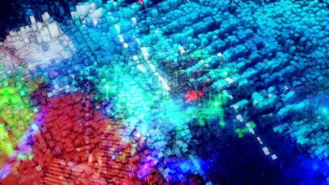 vídeos de stock e filmes b-roll de cloud computing, big data conceptual simulation - imagem tonalizada
