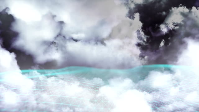 vídeos y material grabado en eventos de stock de computación en la nube, simulación conceptual de big data - imagen virada