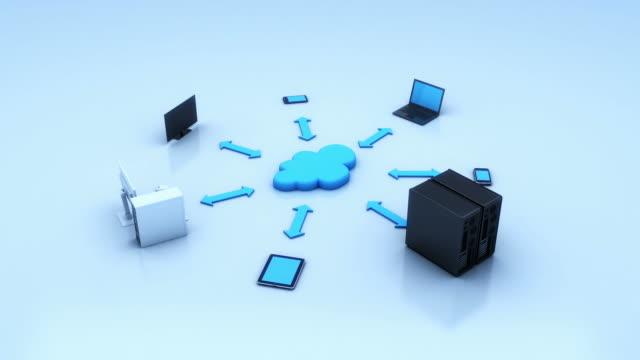 vídeos y material grabado en eventos de stock de concepto de computación en nube - computación en nube