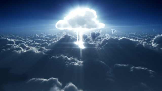 cloud computing in the clouds - cloud computing stock videos & royalty-free footage