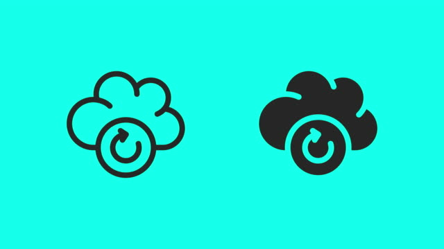 cloud computing loading icons - vector animate - global communications vector stock videos & royalty-free footage