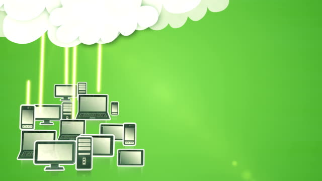 cloud computing (green) - loop - adobe after effects stock videos and b-roll footage