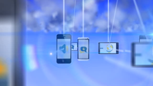 cloud computing smartphone - global communications icon stock videos & royalty-free footage