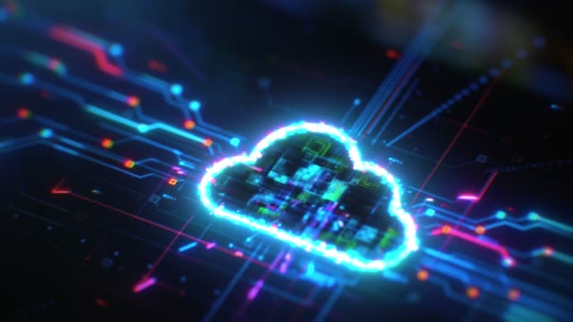 cloud computing solution digital background - data mining stock videos & royalty-free footage