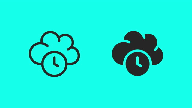 cloud computing timing icons - vector animate - global communications vector stock videos & royalty-free footage