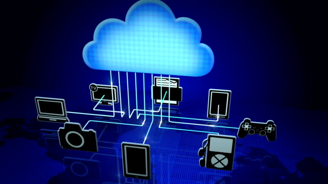 cloud computing - cloud computing stock-videos und b-roll-filmmaterial