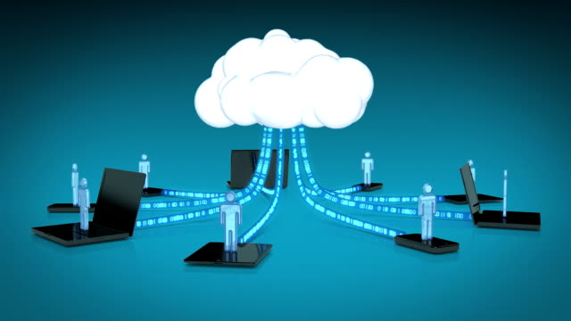 cloud computing with mobile devices - downloading stock videos & royalty-free footage