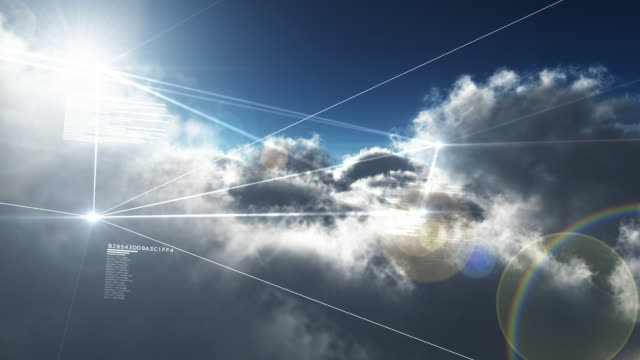 cloud-netzwerk - cloud computing stock-videos und b-roll-filmmaterial