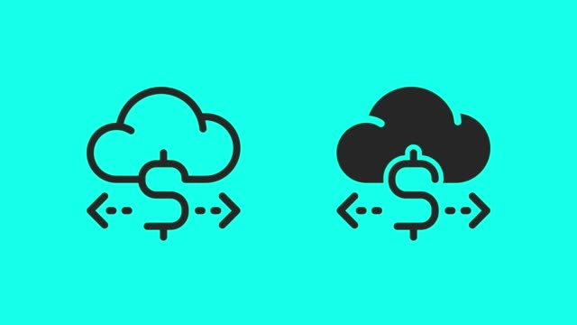 Cloud Currency System Icons - Vector Animate