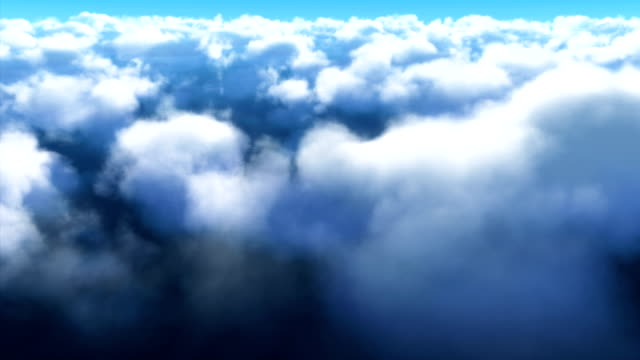 cloud fly through in 4k resolution - alpha channel stock videos & royalty-free footage