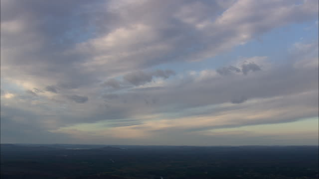 cloud formations over degrasse state forest - lake placid town stock videos and b-roll footage