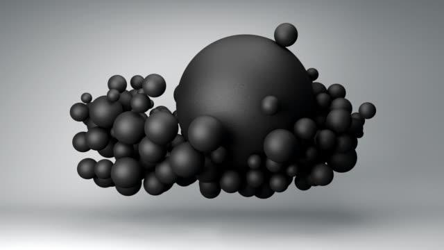 黒のボールの雲 - 無重力点の映像素材/bロール
