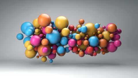 vidéos et rushes de nuage de boules colorées - ball