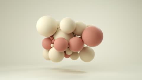 vídeos y material grabado en eventos de stock de nube de bolas blandas (pastel) - pelota