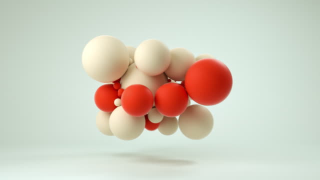cloud of soft balls (red) - ball stock videos & royalty-free footage