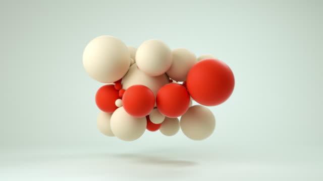 cloud of soft balls (red) - ball stock-videos und b-roll-filmmaterial