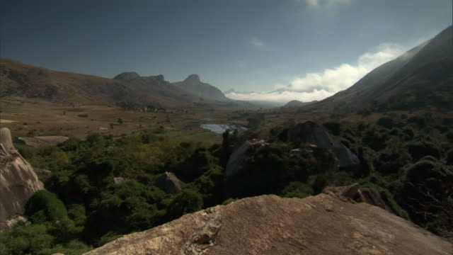 Cloud over rocky valley, Madagascar