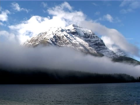 Cloud passing mountain. Yoho National Park, British Colombia, Canada