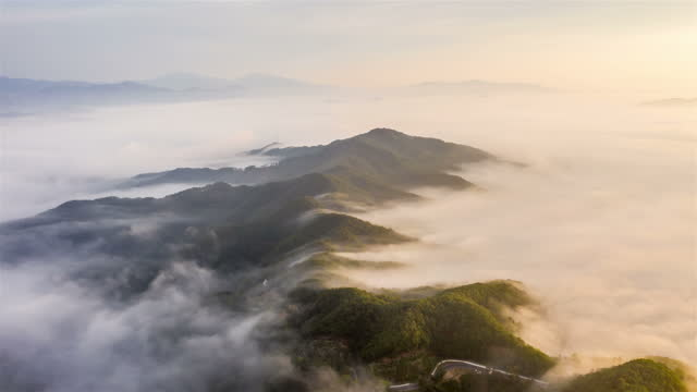 cloud sea on mountain / gyeonggi-do, south korea - overcast stock videos & royalty-free footage
