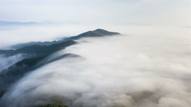 cloud sea on mountain / gyeonggi-do, south korea - ridge stock videos & royalty-free footage