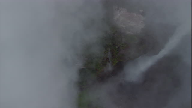 A cloud shrouds Angel Falls. Available in HD.