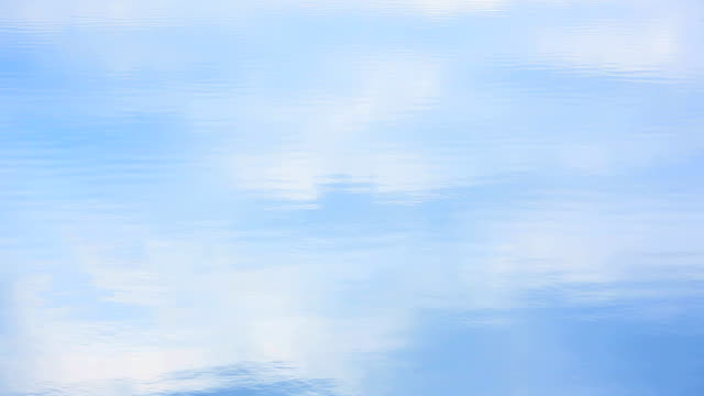 cloud sky reflect on  the lake - plusphoto stock videos & royalty-free footage