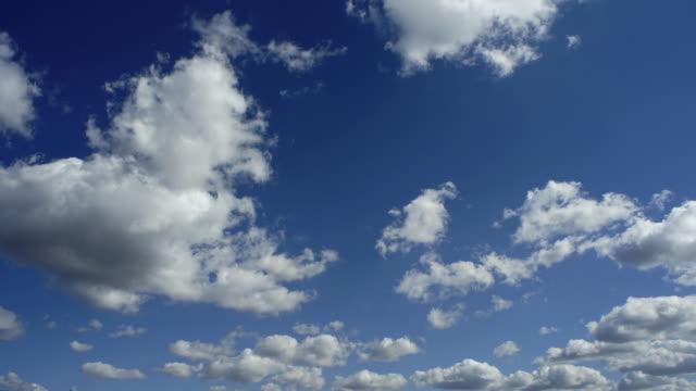 cloud - sky - fluffy cloud sky stock videos & royalty-free footage