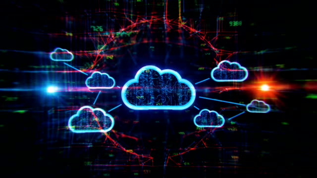 cloud solution digital background - computer equipment stock videos & royalty-free footage