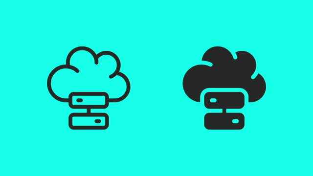 cloud storage icons - vector animate - global communications vector stock videos & royalty-free footage