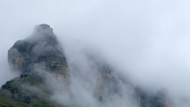 cloud swept mountain peaks - drakensberg mountain range stock videos & royalty-free footage