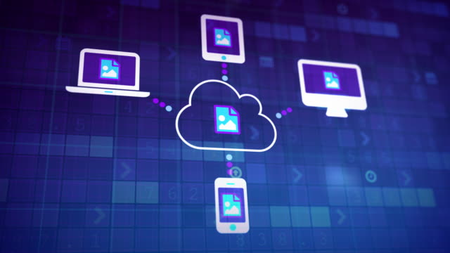 cloud-synchronisierung - cloud computing stock-videos und b-roll-filmmaterial