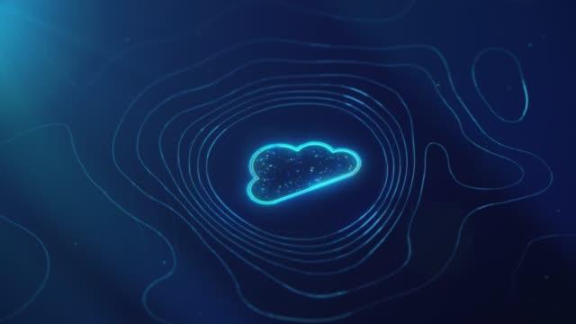 stockvideo's en b-roll-footage met achtergrond cloudtechnologie - cloud computing