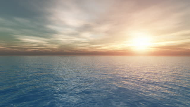 cloud timelapse at sea desu with setting sun - horizon stock videos & royalty-free footage