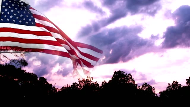 Cloud Typologies with American Flag