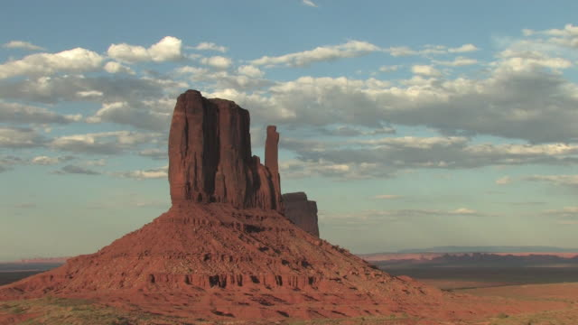 t/l, ws, clouds above west mitten, monument valley navajo tribal park, utah, usa - mitten stock videos and b-roll footage