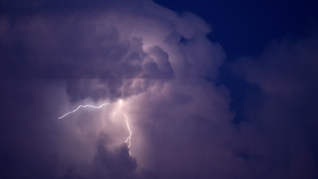 clouds and lightning - storm cloud stock videos & royalty-free footage