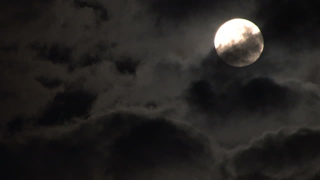 clouds and moon - full moon stock videos & royalty-free footage