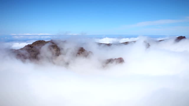 clouds and mountain peaks - time lapse - rock face stock videos and b-roll footage