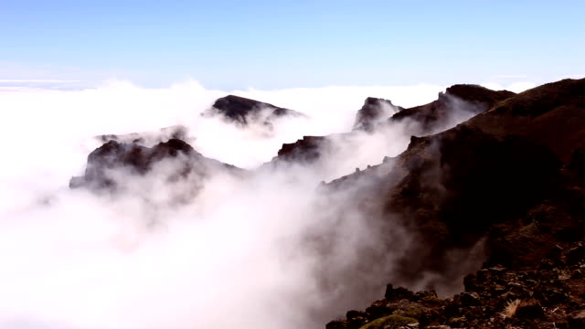 clouds and mountains, time lapse - crag stock videos and b-roll footage