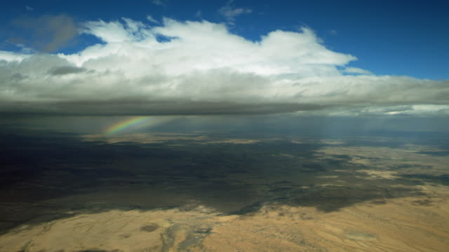 clouds and rainbow over desert in new mexico - new mexico stock videos & royalty-free footage