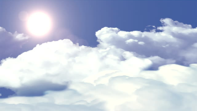 Clouds and sun loopable background.