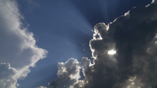 clouds and sun time lapse - zeitraffer stock videos & royalty-free footage